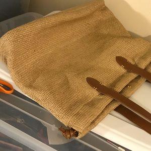 Liz Claiborne Tote Handbag, Weaved Shoulder Bag